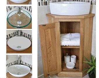 sink vanity units for bathrooms bathroom oak vanity unit corner sink cabinet ceramic wash basin tap plug vanity etsy