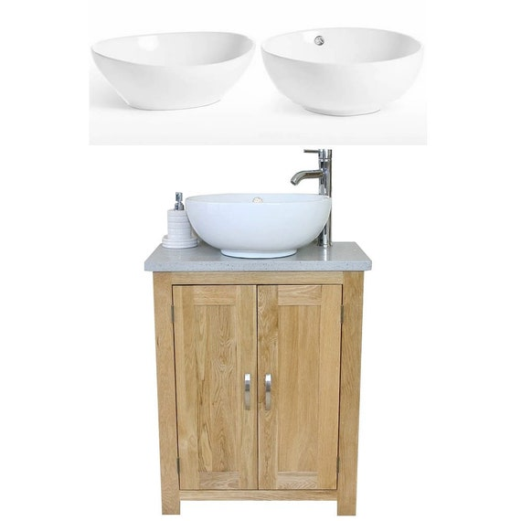 Prime Solid Oak Bathroom Vanity Unit Bathroom Slimline Cabinet Grey Quartz Worktop Ceramic Basin Choice 310Gqcbc Home Remodeling Inspirations Genioncuboardxyz