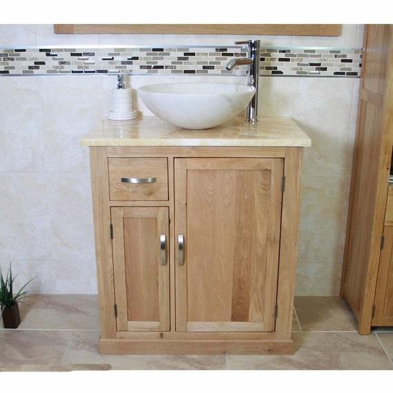 Bathroom Vanity Unit Free Standing Golden Honey Onyx Top White Etsy