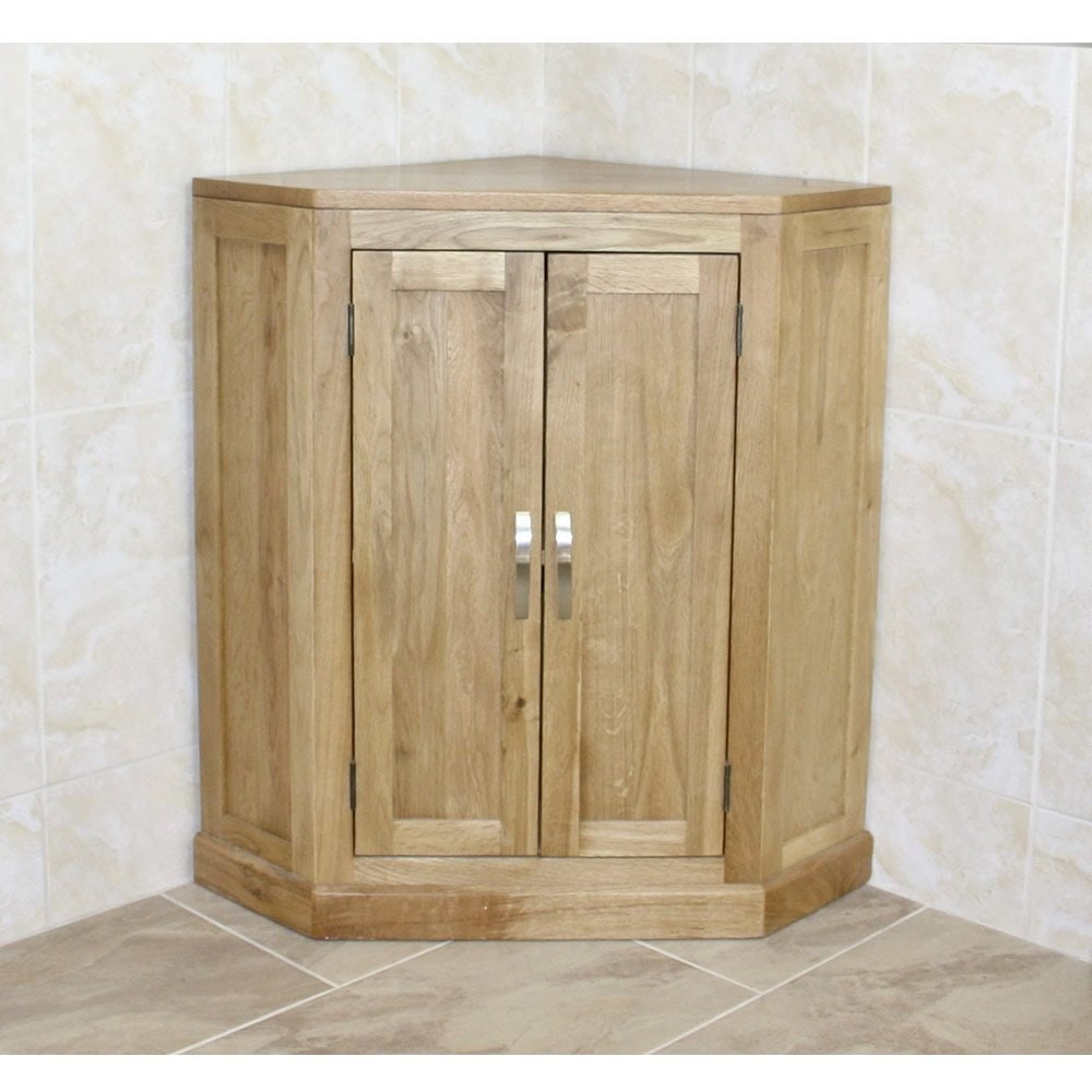 Bathroom Vanity Unit Free Standing Oak Corner Cabinet 501b Etsy