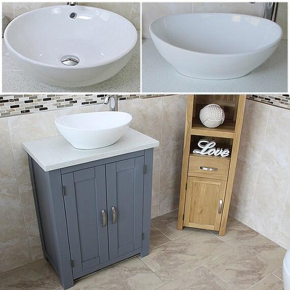 Bathroom Vanity Unit Grey Bathroom Slimline Cabinet White Etsy