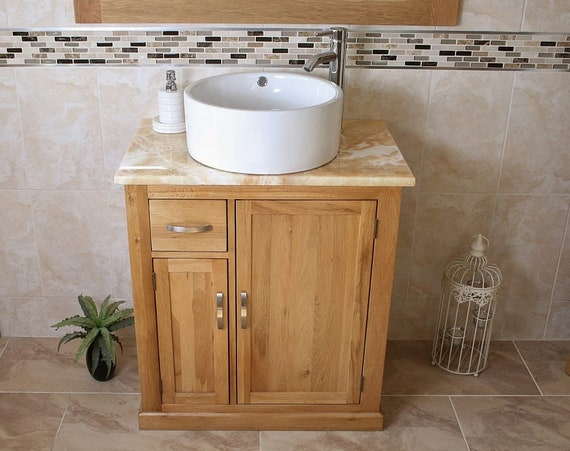Bathroom Vanity Unit Free Standing Oak Cabinet Golden Honey Etsy