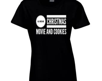 Christmas Movie Cookies Women Woman T-shirt