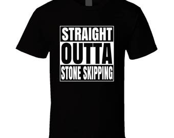 Straight Outta Stone Skipping T-shirt