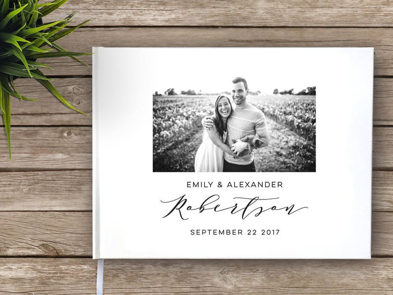 Wedding Guest Book with photo Photo guest book Wedding image 0