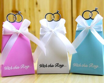 100 Engagement Favor Boxes/DIY With This Ring Wedding Favor Gift Box/Diamond Wedding Ring Gift Box/Getting Married Wedding Favors for Guests