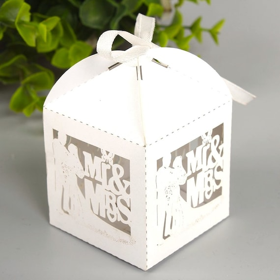 100 Diy Wedding Favor Boxesmr And Mrswedding Gift Box For Etsy