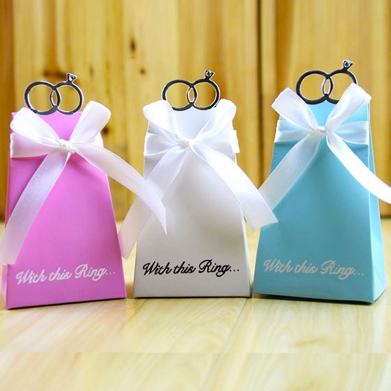 100 Engagement Favor Boxesdiy With This Ring Wedding Favor Etsy