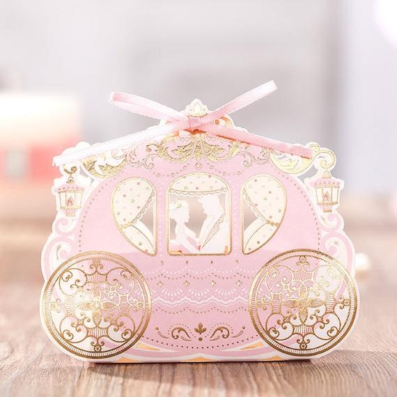 50 Disney Cinderella Wedding Favor Boxes/DIY Wedding