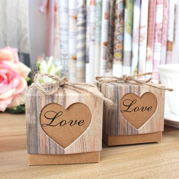 100 Diy Wedding Favor Boxeskraft Gift Boxrustic Favor Box Etsy