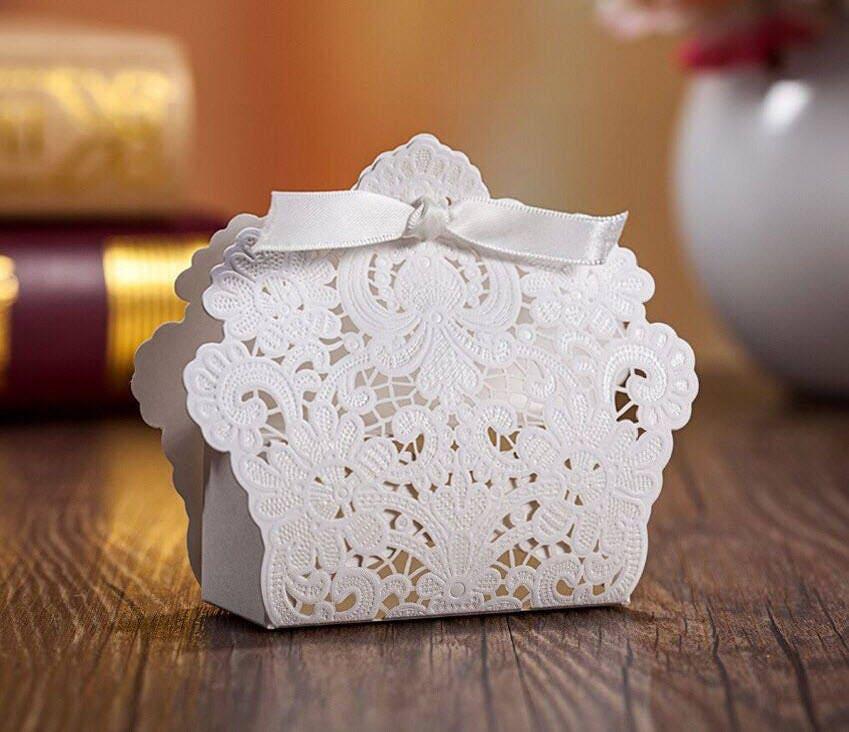 50 Victorian Wedding Favor Gift Boxes/DIY Elegant Wedding
