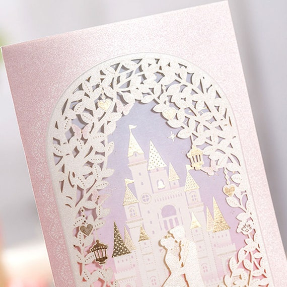 Wedding Invitations Castle Hill: 12 Disney Cinderella Wedding Invitations/Castle Wedding