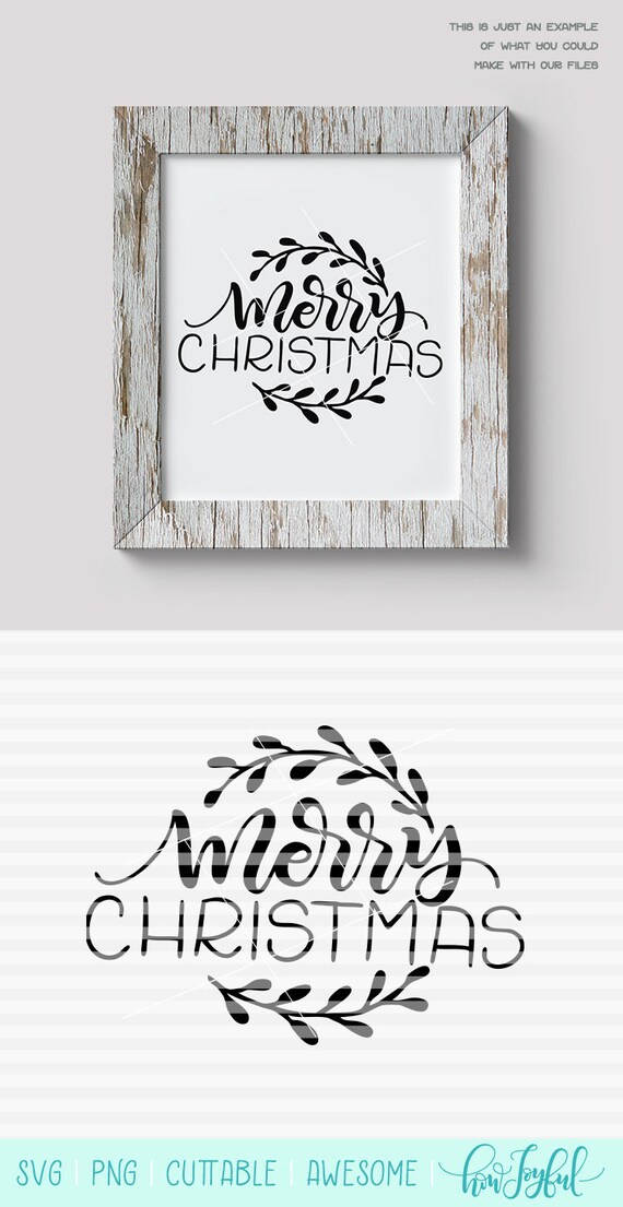 Merry Christmas Wreath Farmhouse Sign Art Svg Pdf Dxf Etsy