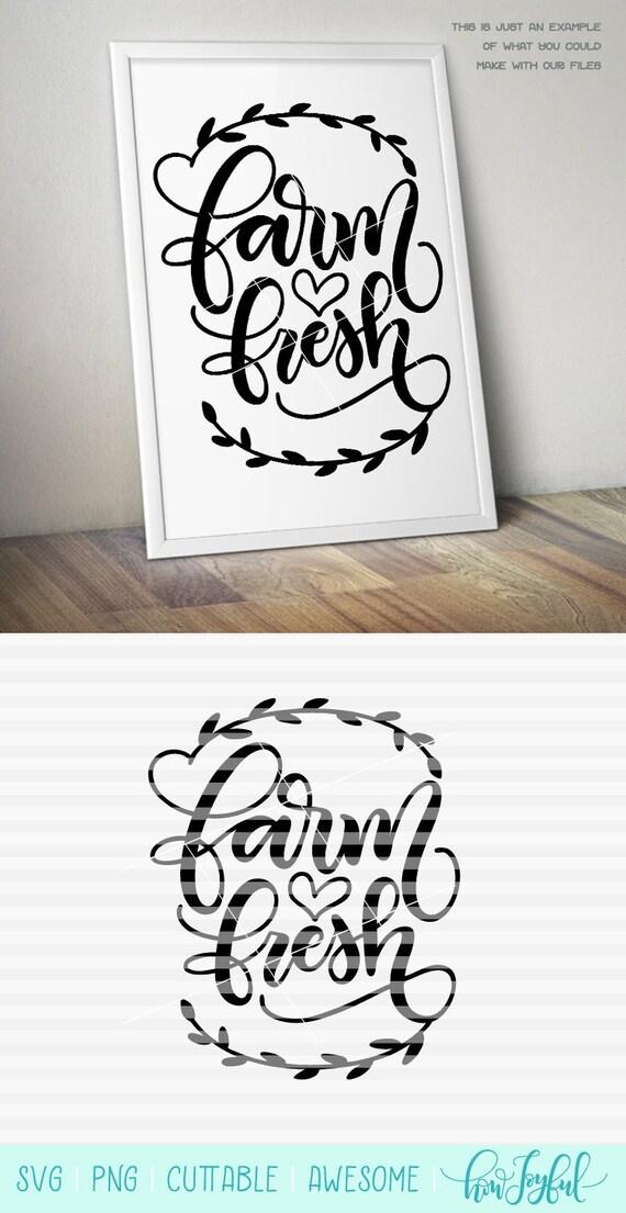 Farm Fresh Wreath Kitchen Sign Art Horse Svg Pdf Etsy