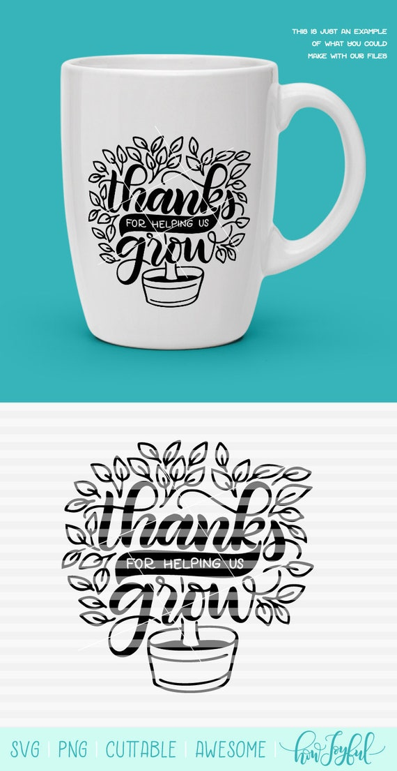 Thank You For Helping Us Grow Teacher Appreciation Tree Etsy