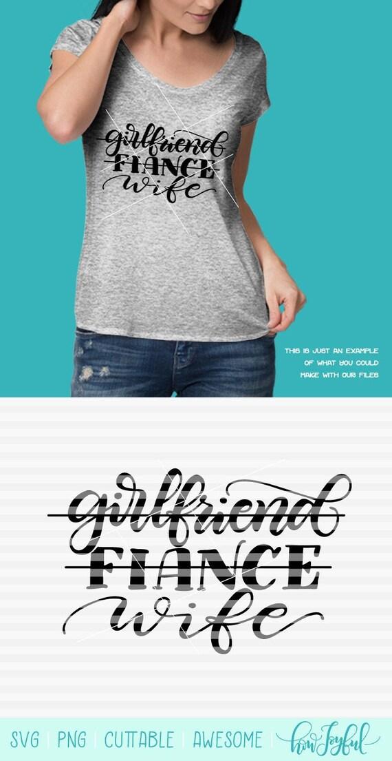 Girlfriend Fiance Wife Svg Pdf Dxf Hand Drawn Etsy