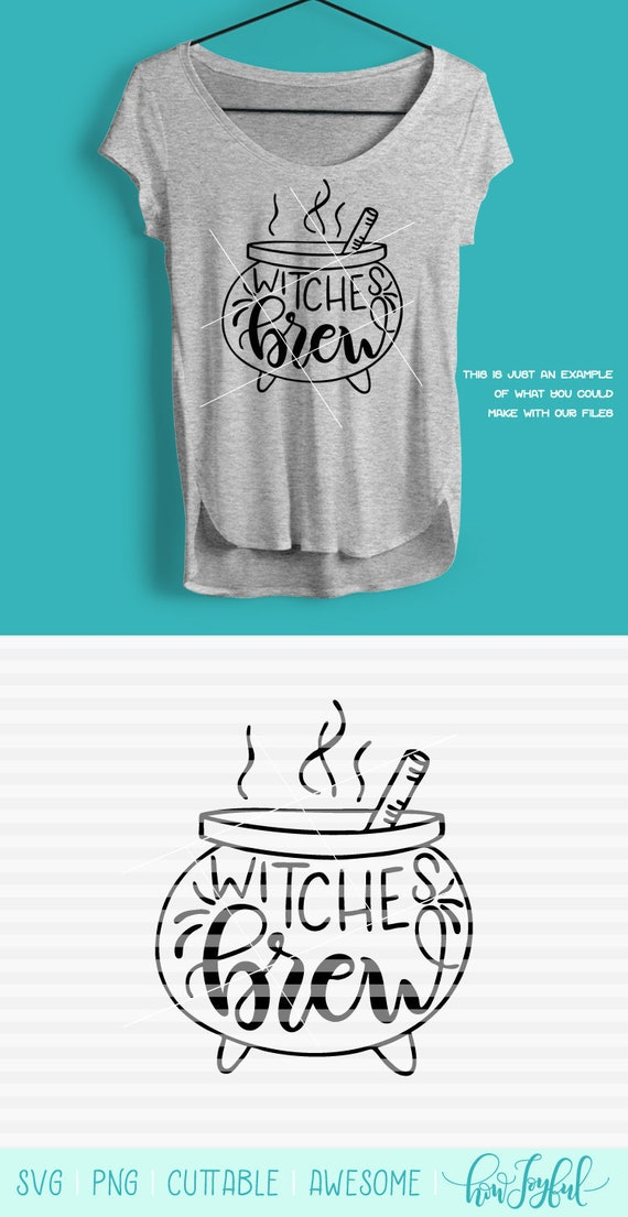 Witches Brew Outlined Halloween Svg Dxf Pdf Files Etsy