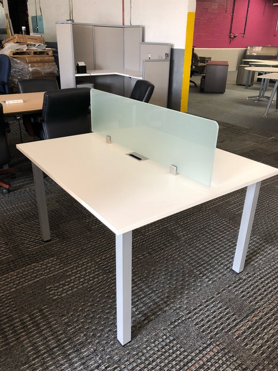 2 Person Workstation Benching Desk Etsy