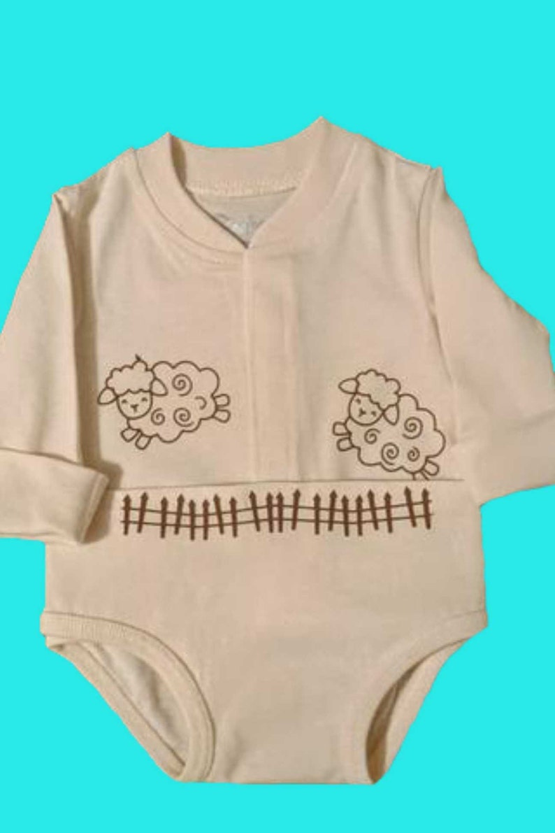Counting Sheep Baby Bodysuit