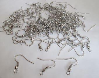 50 crochets argenté mat 19 mm