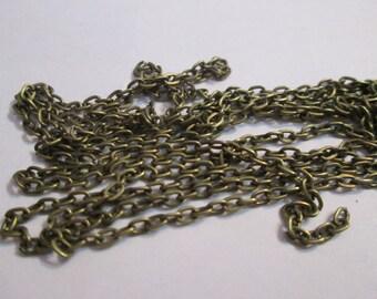 Open mesh chain bronze 2 x 3 mm sold per meter