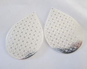 prints 2 drop silver shiny 40 x 28 mm