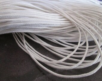 waxed cord 1 m white 1.5 mm in diameter