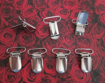 10 clips straps / sweet silver metal