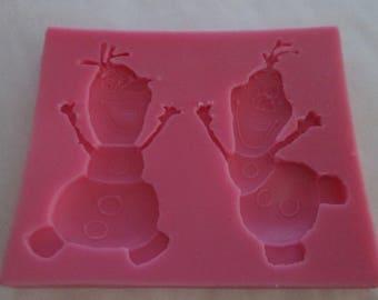 Silicone mold Olaf frozen for sugar paste or marzipan Queen