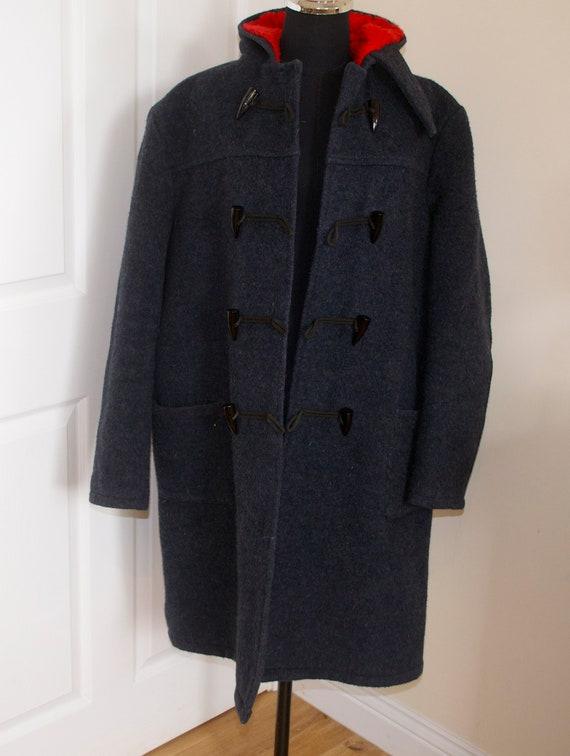 Vintage Genuine Yorkshire Wool Duffel Coat XL The