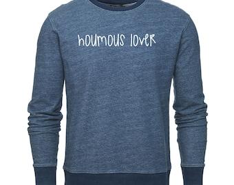 "Bio ""HUMMUS LOVER"", vegan Sweatshirt cotton Sweatshirt"