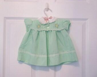 Mint Green Infant Baby Girl's Dress