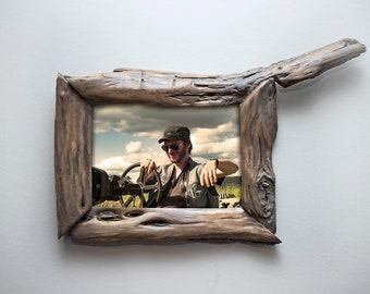 5x7 Frame, 5x7 Wood Frame, Driftwood Frame, Unique photo frame