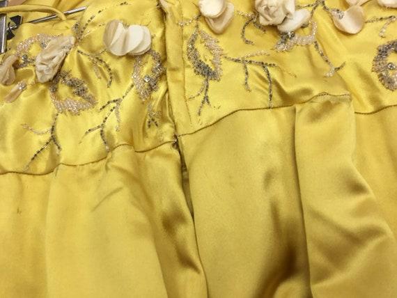 Vintage 1950's Harvey Berin Yellow Silk Gown - image 9