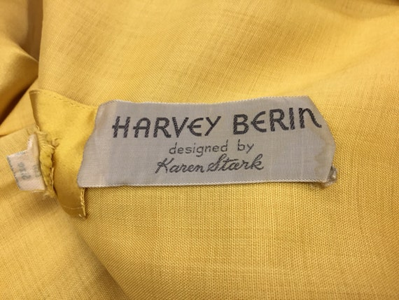 Vintage 1950's Harvey Berin Yellow Silk Gown - image 4