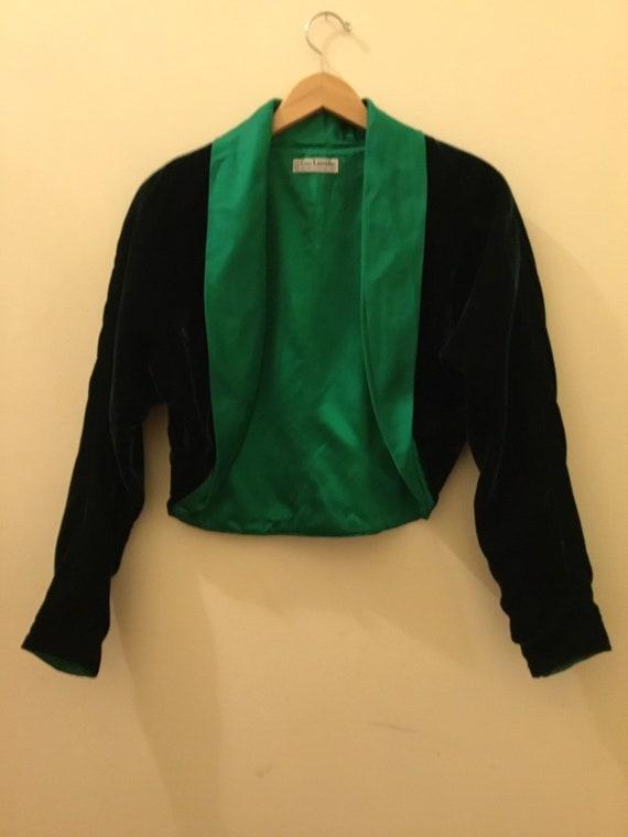 Guy Laroroche green velvet satin Blazer/Jacket 198