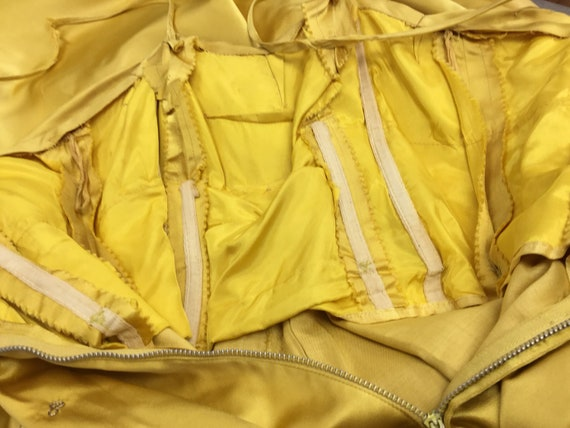 Vintage 1950's Harvey Berin Yellow Silk Gown - image 6