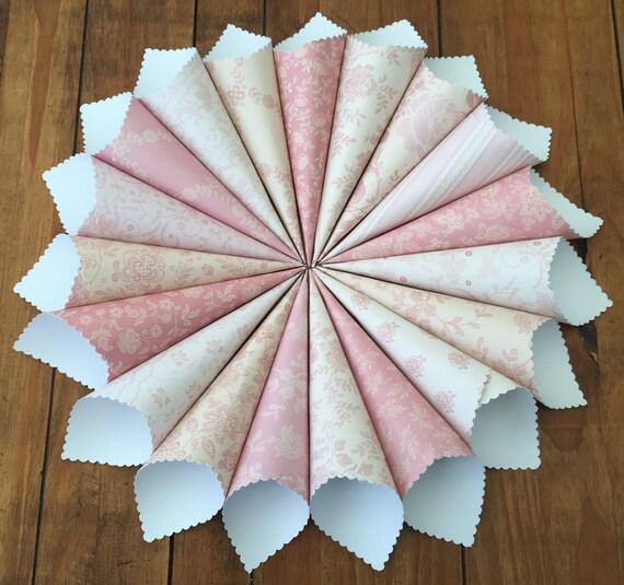 Pink confetti cones rustic cones wedding cones vintage etsy image 0 mightylinksfo