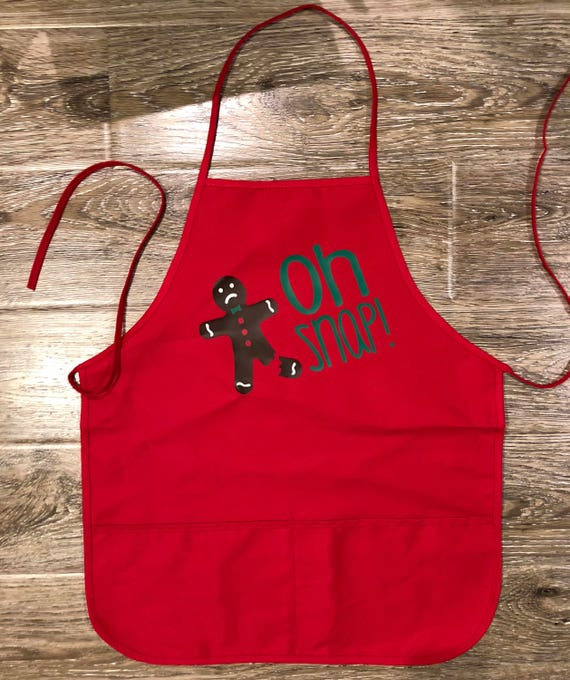 Christmas Apron Cookie Baking Apron Oh Snap Apron Funny Etsy
