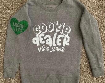 Cookie Dealer Shirt, Girl Gang Shirt, Girl Scout Cookies, Girl Scout Sweatshirt, Girl Scout Long Sleeve, Cookie Booth Sales, Cookie Dealer