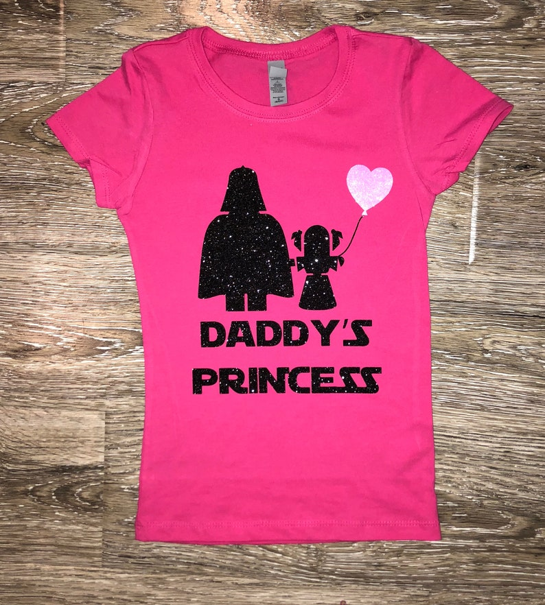 b6e0c6b9 DADDYS PRINCESS SHIRT Star Wars Shirt Darth Vader Shirt | Etsy