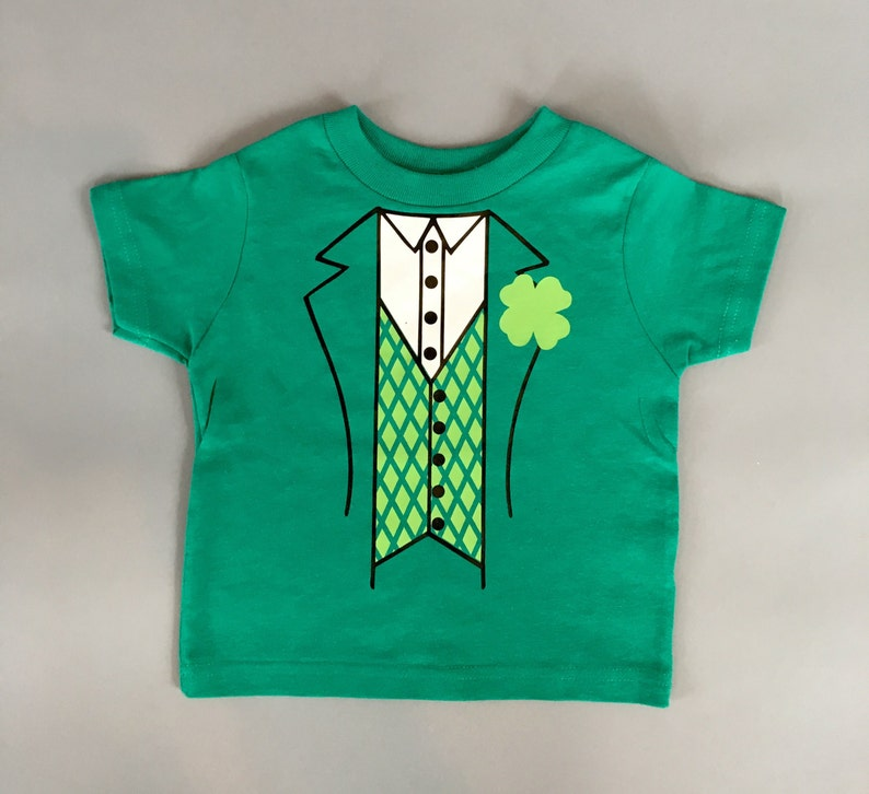 83ebd882 St Patricks Day leprechaun tuxedo toddler boys shirt pinch | Etsy