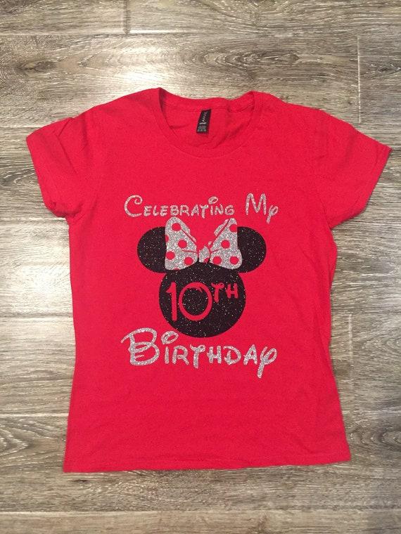 DISNEY BIRTHDAY SHIRT Minnie Birthday Shirt Celebrating My