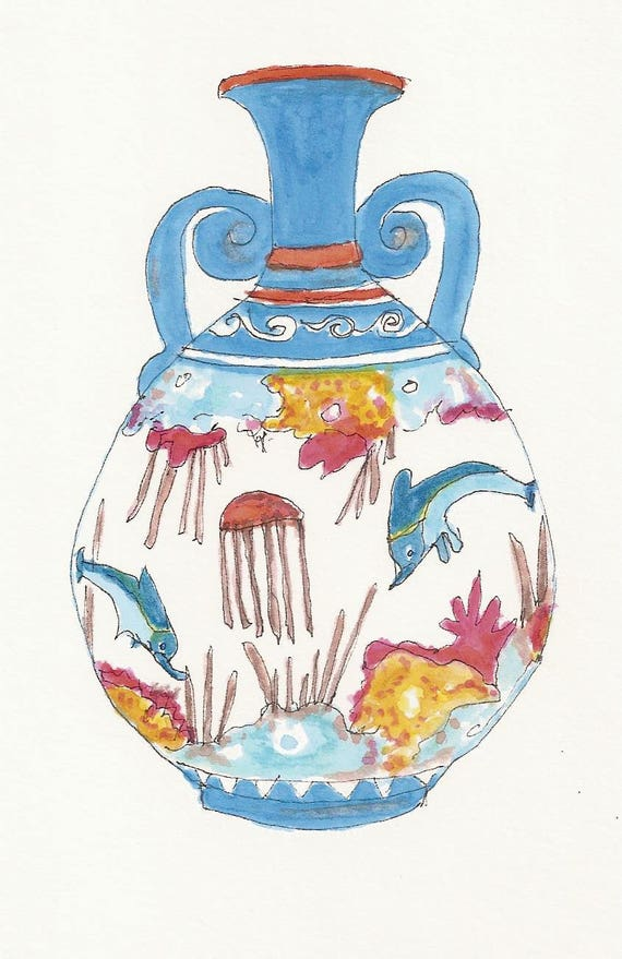 Greek vase 6 doplhins sex dolphins
