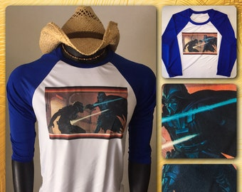 Vintage 1977 Star Wars Darth Vader A New Hope IV Original The Last Jedi Han Solo Story Tee UNUSED S/M Ralph McQuarrie T-Shirt