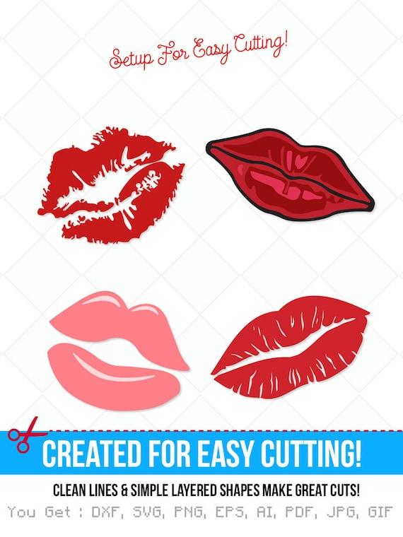 Lips Svg Lip Dxf Kiss Svg Jpg Png Eps Ai Cutting Files Etsy