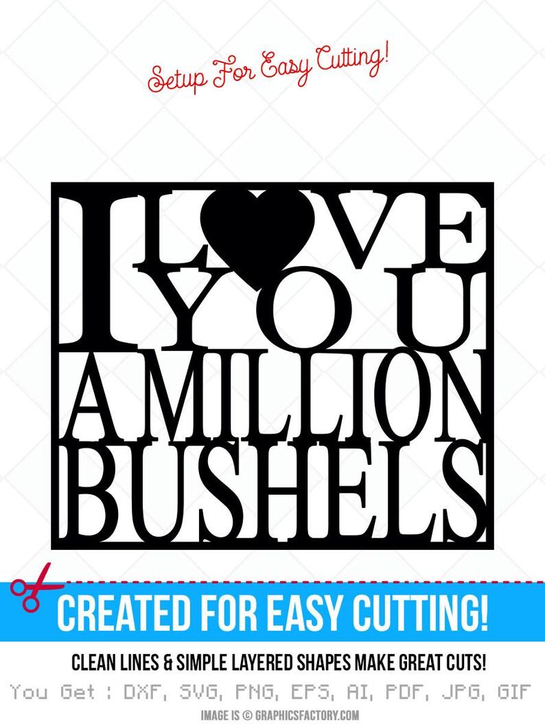 Ich Liebe Dich Eine Millionen Scheffeln Svg Datei Dxf Zitate Etsy
