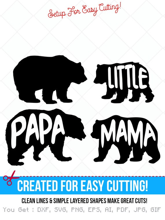 14+ Mama Bear Svg/Dxf/Eps File Design
