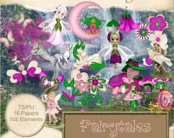 Fairytales Scrapbook, Scrap book, Scrapbooking Kit