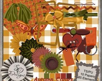 Autumn Colors Scrapbook, Scrap book, Scrapbooking Kit